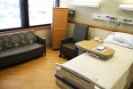 Space for in-room physical therapy