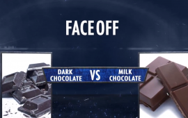 Faceoff Dark vs Milk Chocolate
