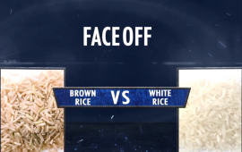 Faceoff brown rice vs white rice