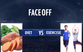 Faceoff diet vs exercise