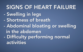 Signs of heart failre