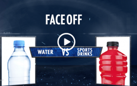 Centegra Faceoff Water vs Sports Drinks