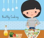 Woman healthy cooking in the kitchen