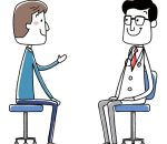 medical doctor. Examination the young man. vector illustration.